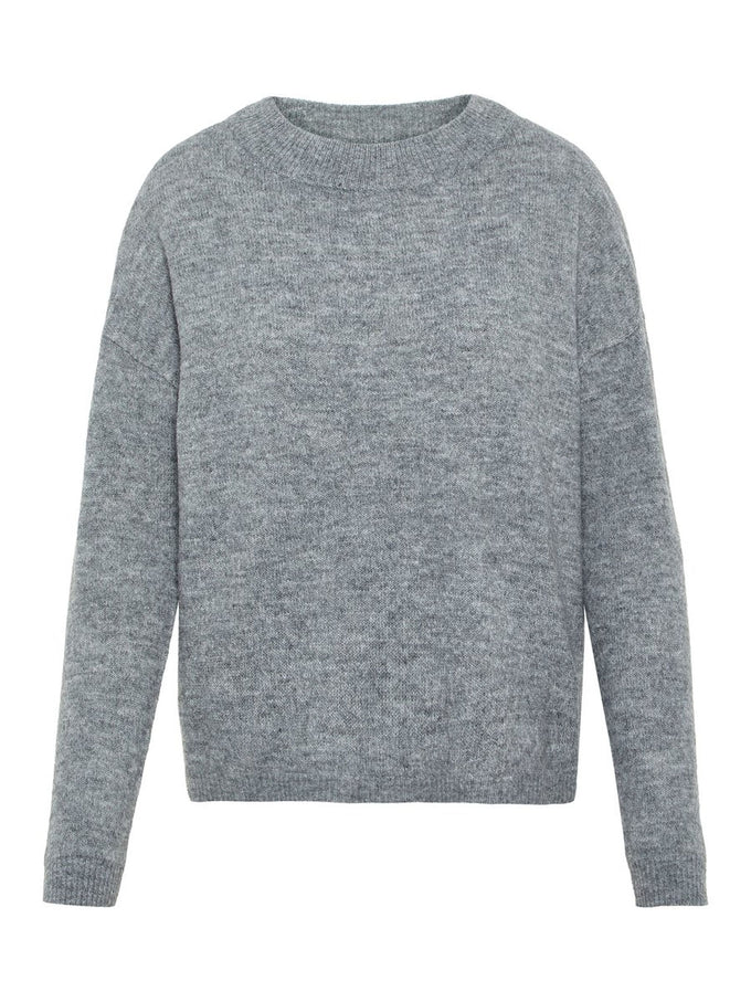 SOLID SWEATER MEDIUM GREY MELANGE