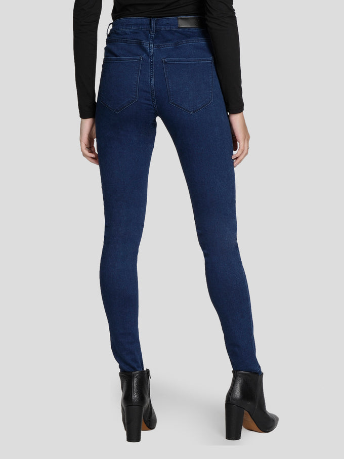 VMJULIA SLIM FIT JEGGINGS DARK BLUE DENIM