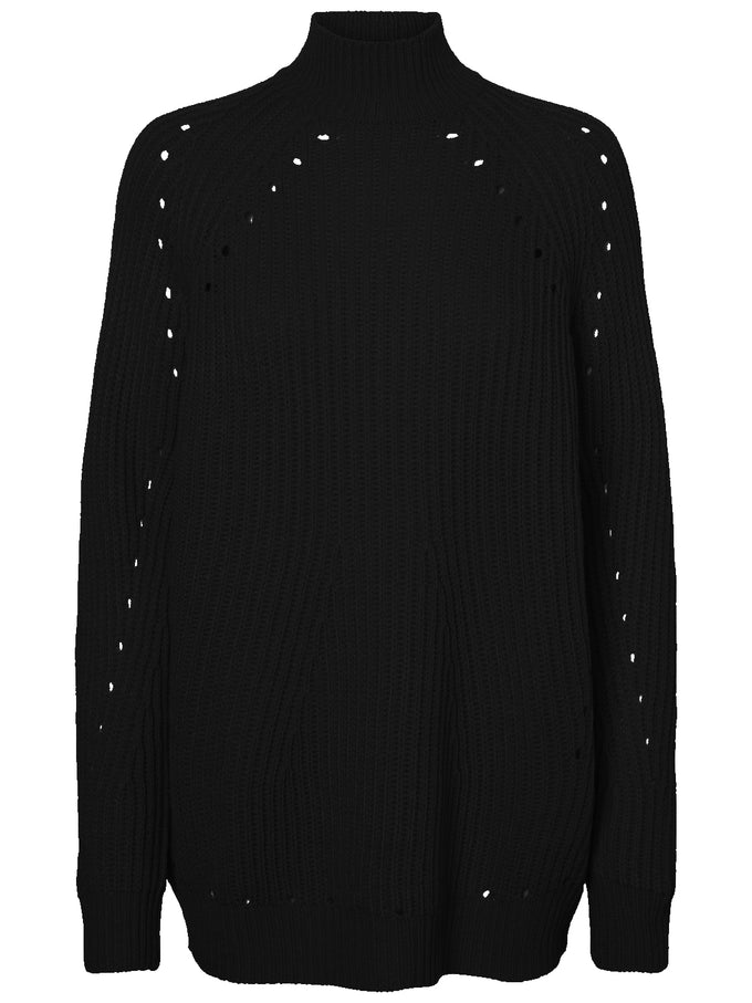 3/4 COMFY SWEATER BLACK