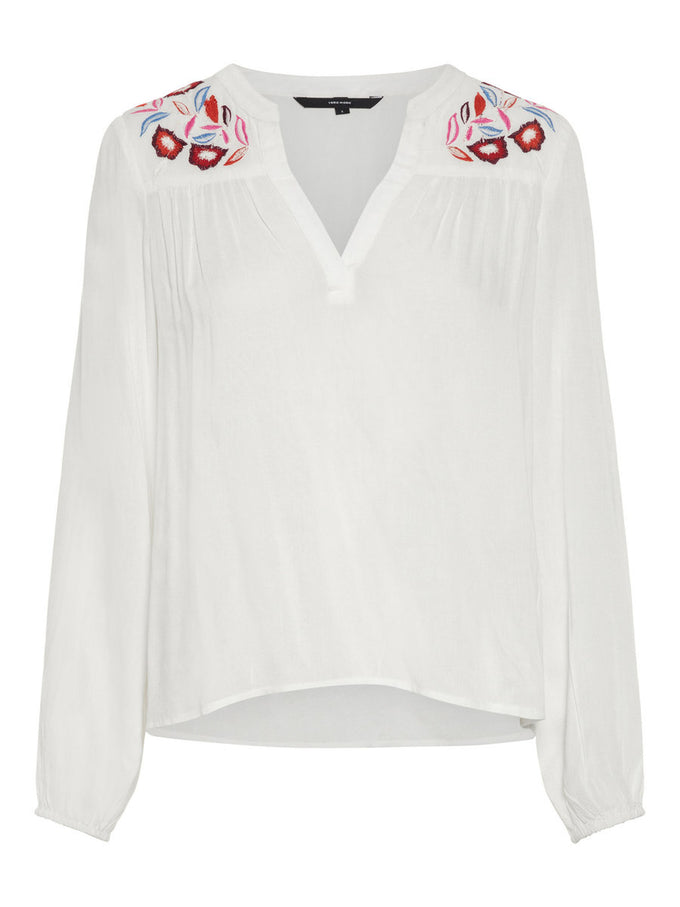 EMBROIDERED BLOUSE SNOW WHITE