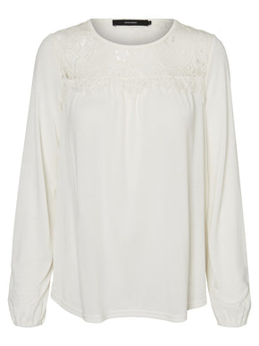 LONG SLEEVES BLOUSE WITH LACE