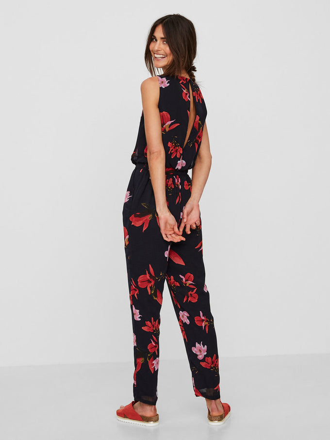 FLORAL PRINT JUMPSUIT NIGHT SKY