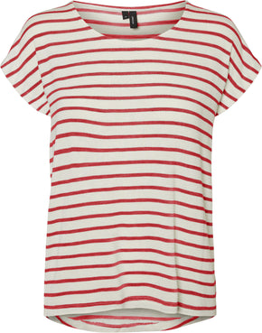 HIGH-LOW STRIPED T-SHIRT
