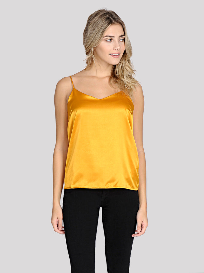 CAMISOLE EN SATIN CURRY
