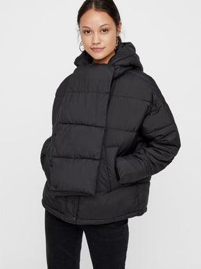 PUFFER JACKET WITH DETACHABLE SCARF