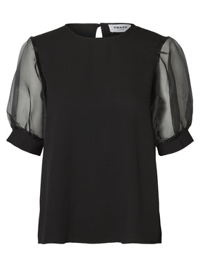 Aware Blouse With Balloon Sleeves