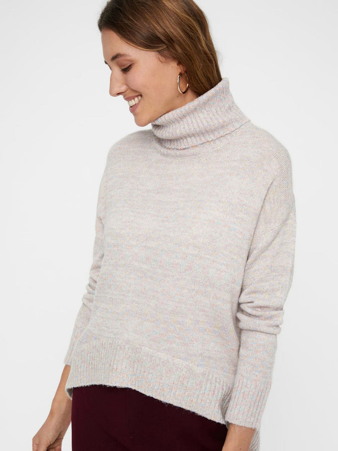 SWEATER WITH METALLIC FIBRES EGGNOG