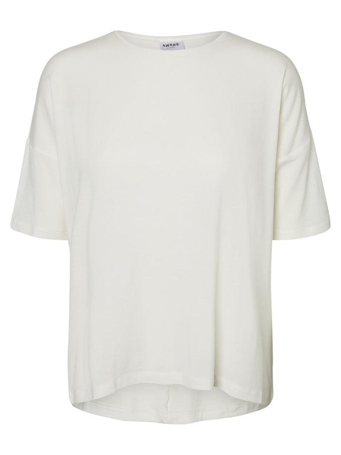 LOOSE LYOCELL T-SHIRT SNOW WHITE