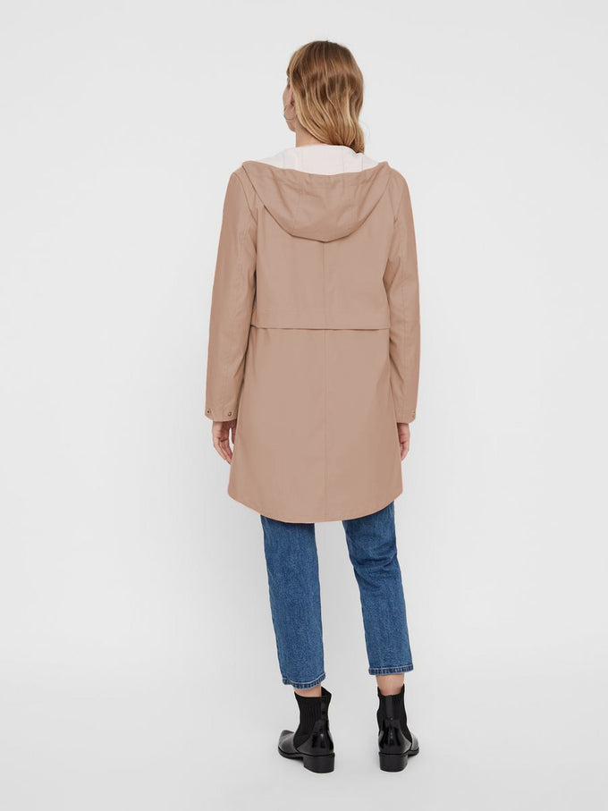 WATER REPELLENT RAIN COAT CAFÉ AU LAIT