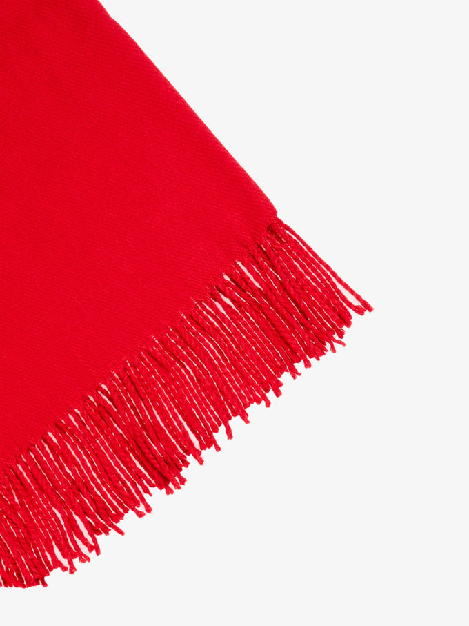 FOULARD LARGE UNI ROUGE