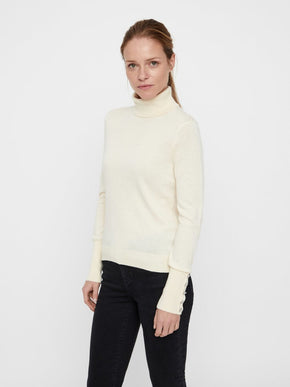 TURTLENECK SWEATER WITH BUTTON DETAILS