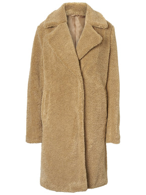 MANTEAU LONG EN TEDDY