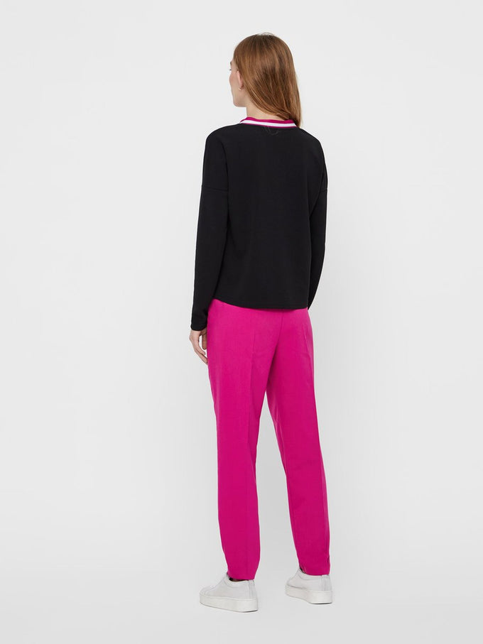 COLOURFUL SLIM FIT PANTS FESTIVAL FUCHSIA