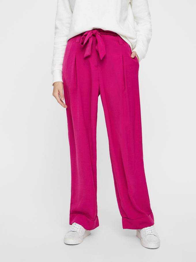 FINAL SALE – COLOURFUL WIDE LEG PANTS FESTIVAL FUCHSIA
