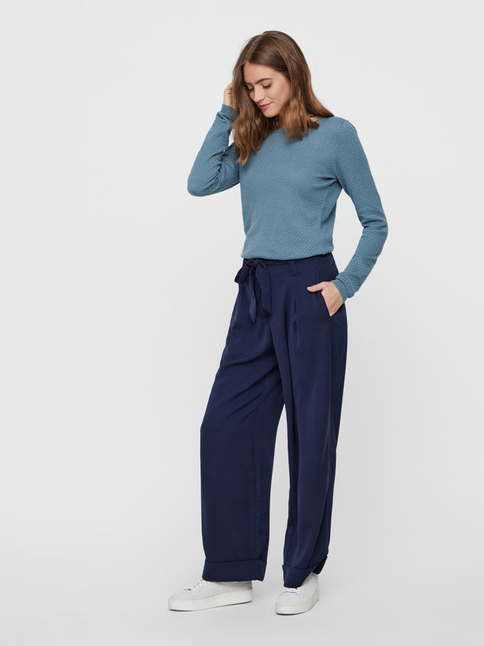 COLOURFUL WIDE LEG PANTS NIGHT SKY