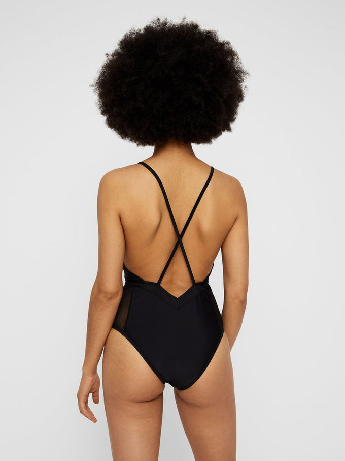 SEXY ONE-PIECE SWIMSUIT BLACK