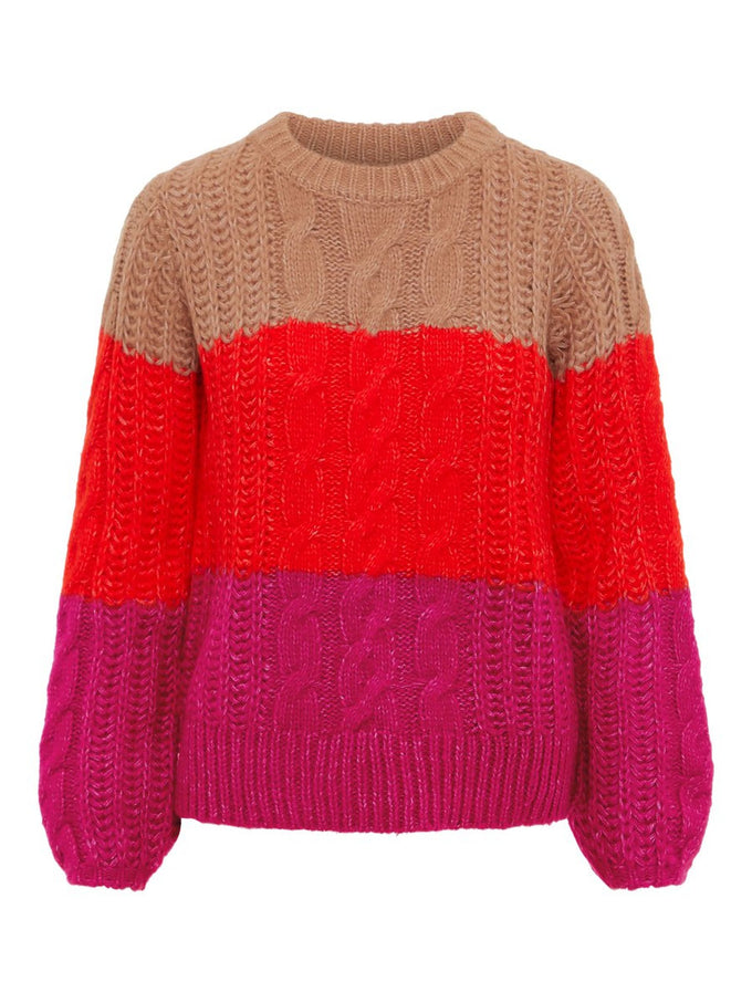 COLOURBLOCK SWEATER CAFÉ AU LAIT