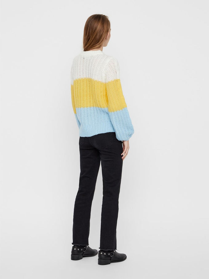 COLOURBLOCK SWEATER SNOW WHITE