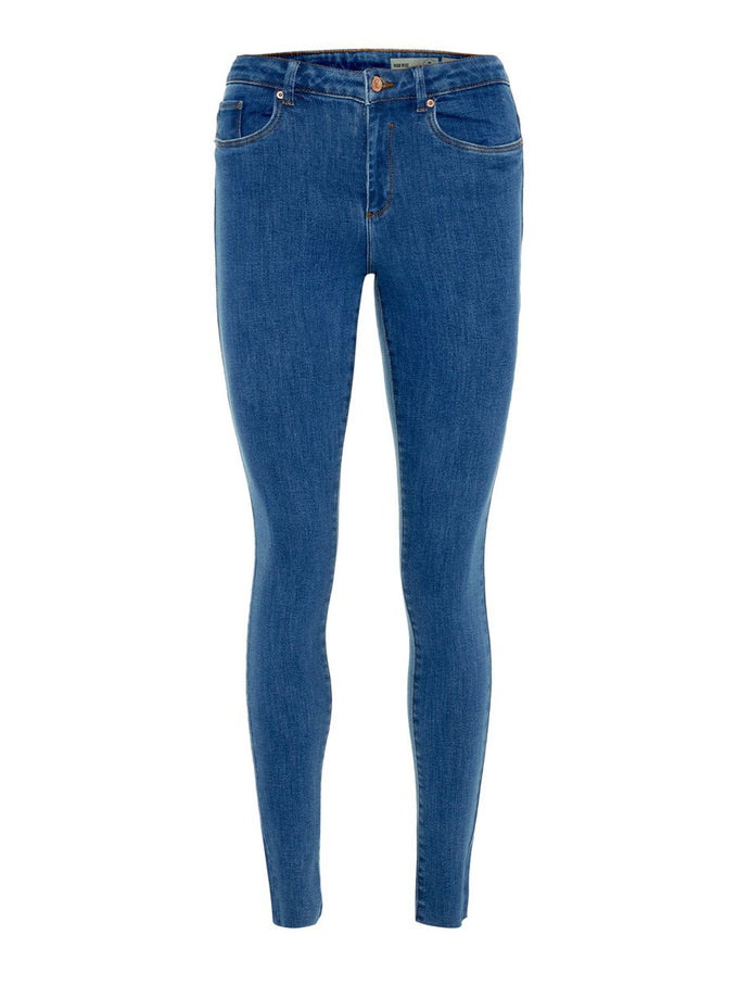 VMSOPHIA HIGH WAIST SKINNY FIT BLUE JEANS MEDIUM BLUE DENIM