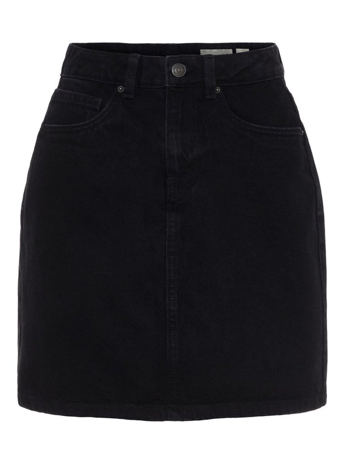 FINAL SALE – CUTE DENIM SKIRT BLACK