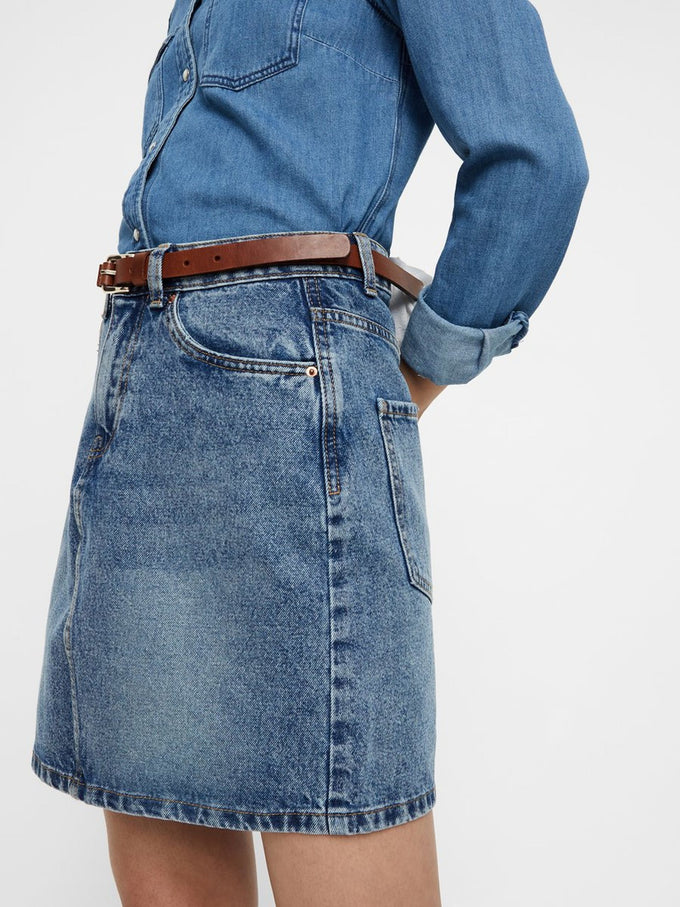 FINAL SALE – CUTE DENIM SKIRT LIGHT BLUE DENIM