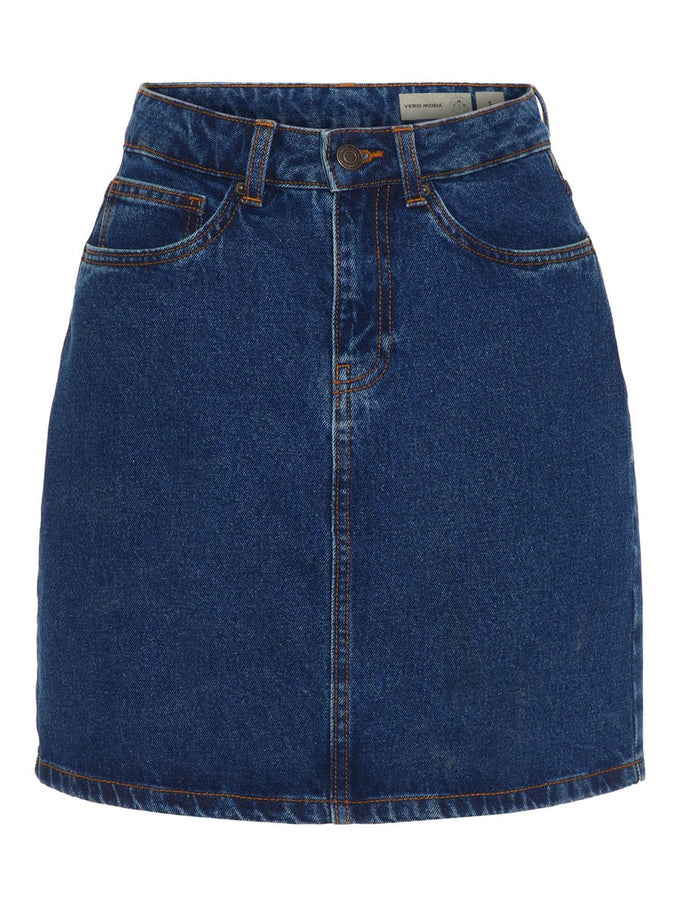 FINAL SALE – CUTE DENIM SKIRT MEDIUM BLUE DENIM