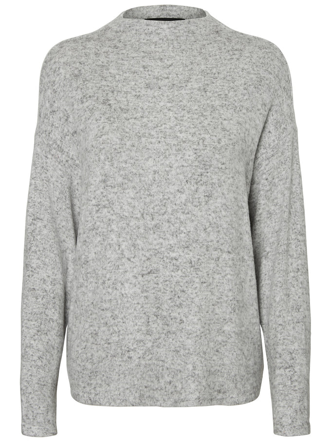 SUPER SOFT BRUSHED SWEATER LIGHT GREY MELANGE