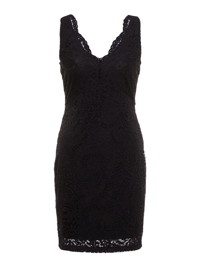 LACE BODYCON DRESS BLACK
