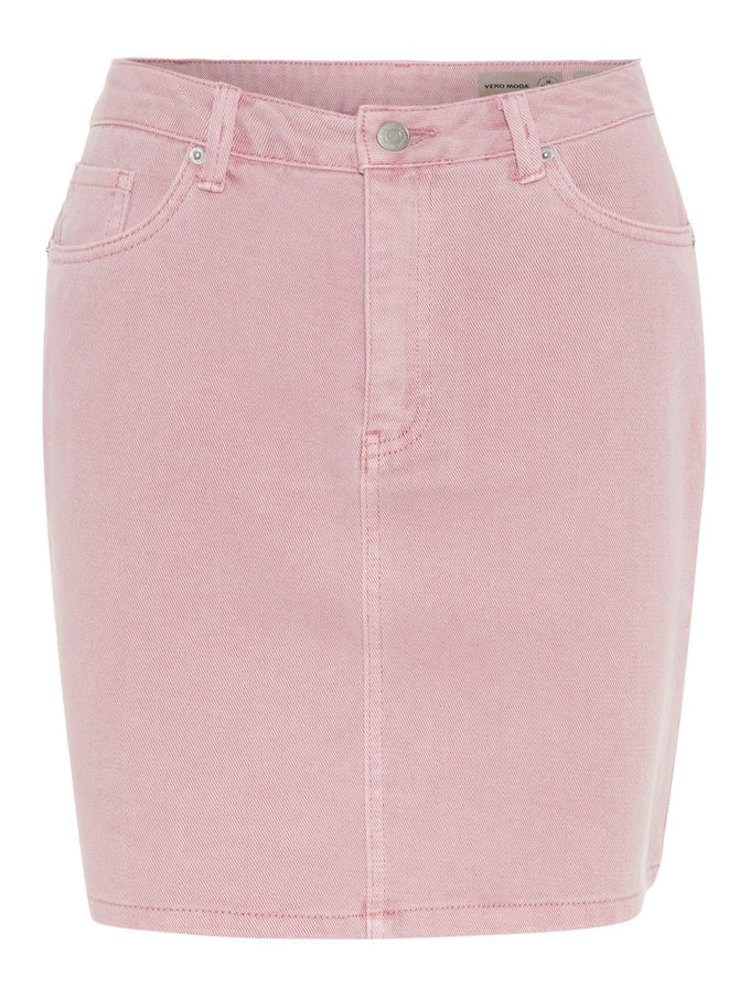 COLOURFUL DENIM SKIRT FOXGLOVE
