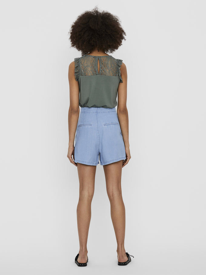 Mia Tencel shorts LIGHT BLUE DENIM