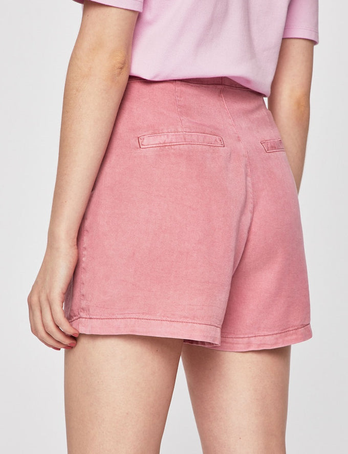 COLOURFUL LYOCELL SHORTS FOXGLOVE