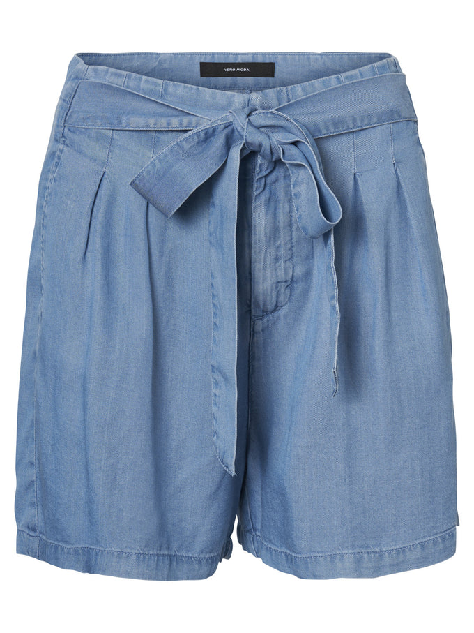 COLOURFUL LYOCELL SHORTS LIGHT BLUE DENIM
