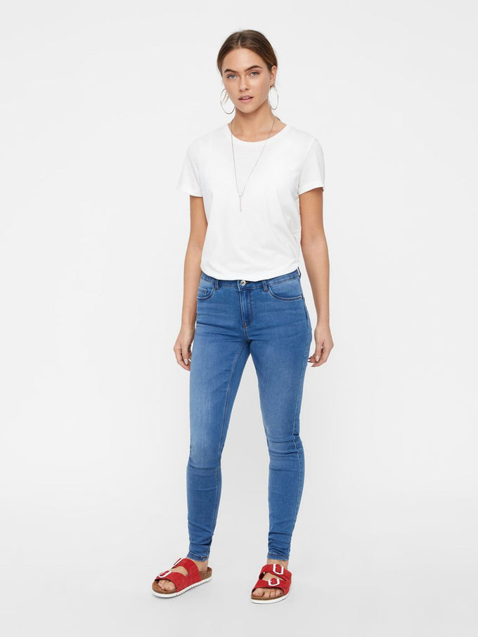 Seven mid waist Shape Up skinny Fit Jeans LIGHT BLUE DENIM