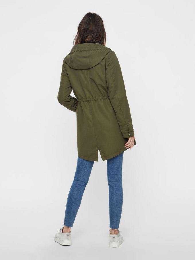 COLOURFUL CANVAS PARKA IVY GREEN