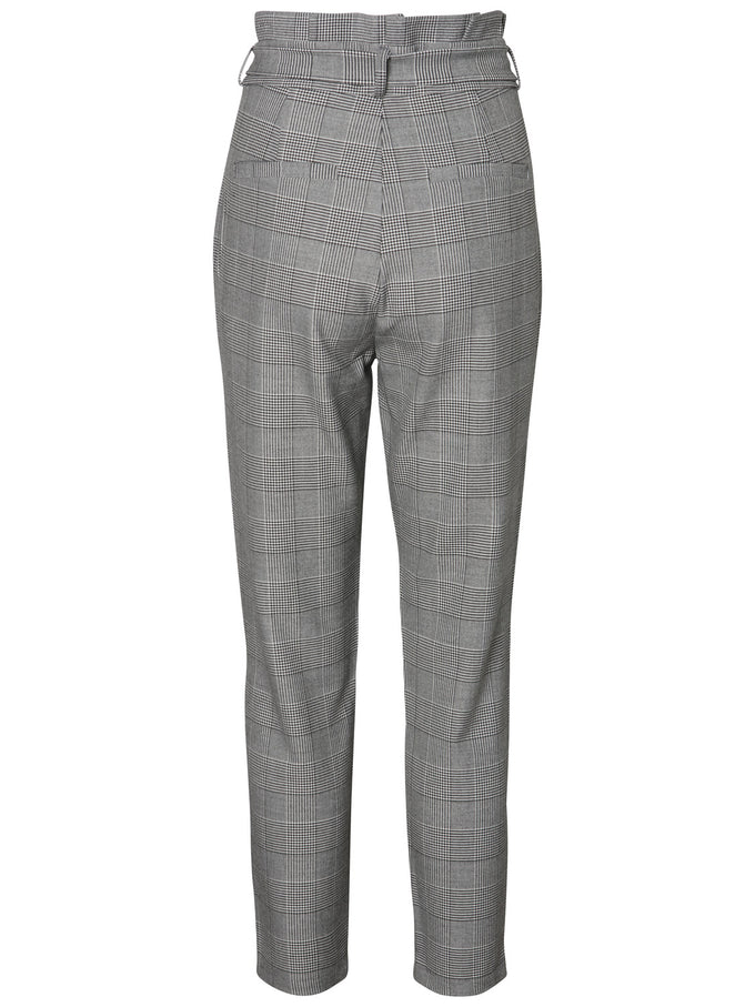 PANTALON À CARREAUX EXTENSIBLE GRIS