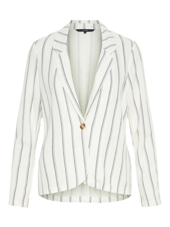 Anna Milo striped blazer SNOW WHITE