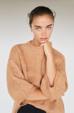 RECYCLED-POLYESTER LOOSE SWEATER