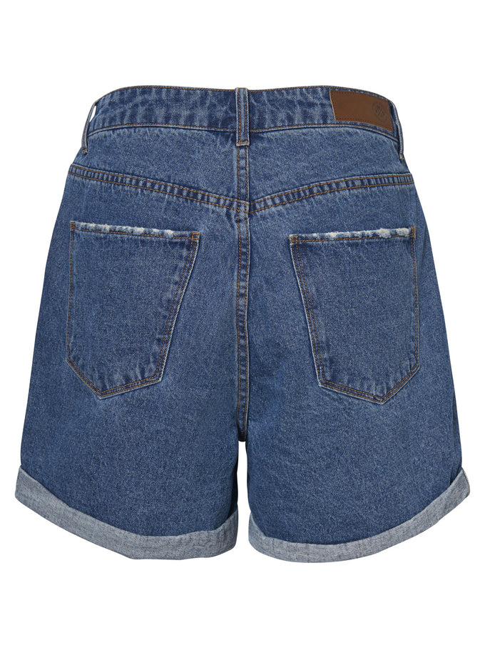 NINETEEN DENIM MOM SHORTS MEDIUM BLUE DENIM