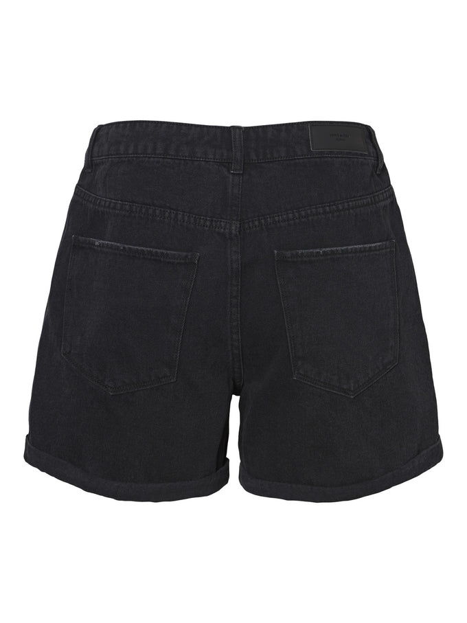 NINETEEN DENIM MOM SHORTS BLACK