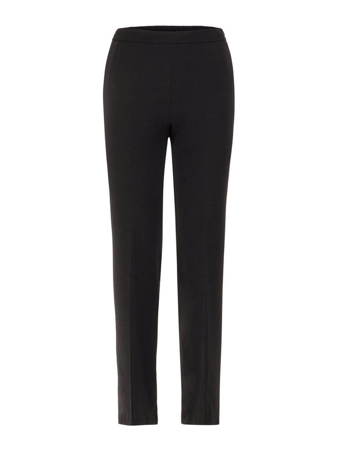 POLYESTER-RECYCLED STRAIGHT FIT PANTS BLACK