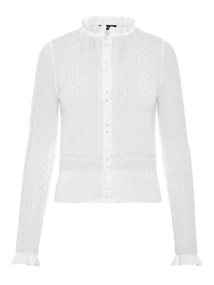 SEE-THROUGH LIGHT CARDIGAN SNOW WHITE