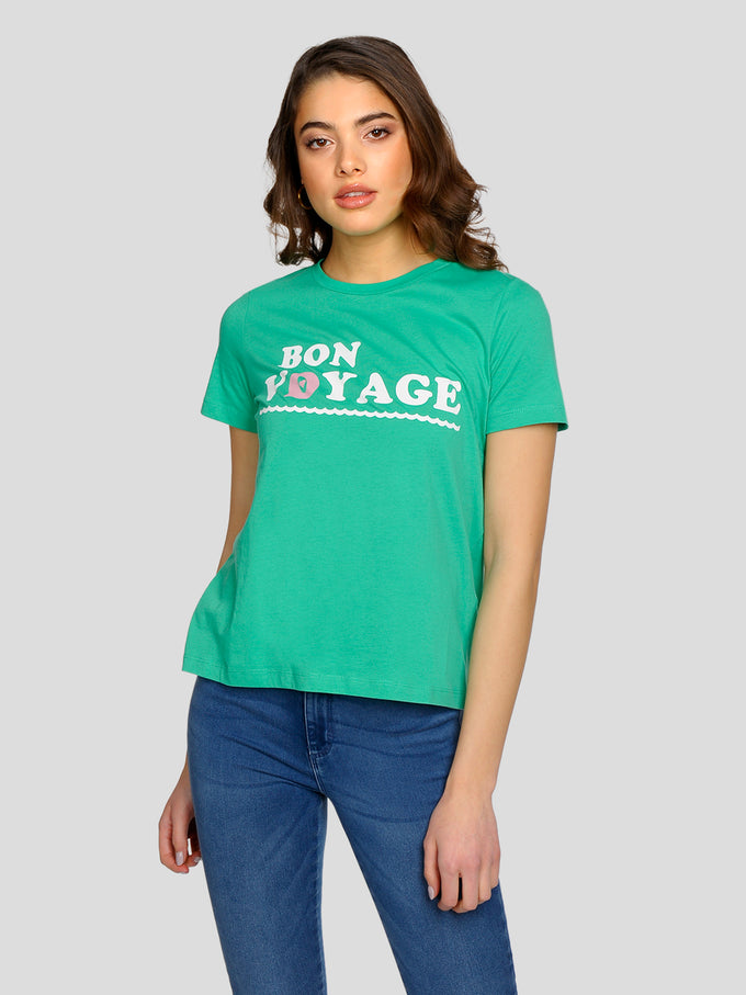 100% ORGANIC COTTON T-SHIRT HOLLY GREEN