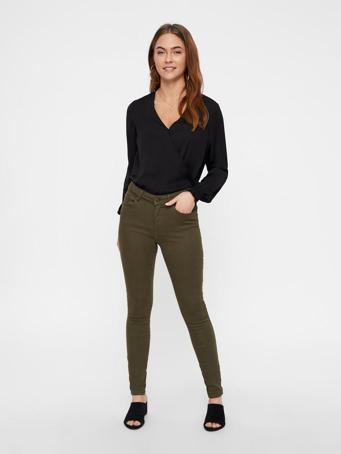 HOT SEVEN PUSH UP SLIM FIT PANTS IVY GREEN