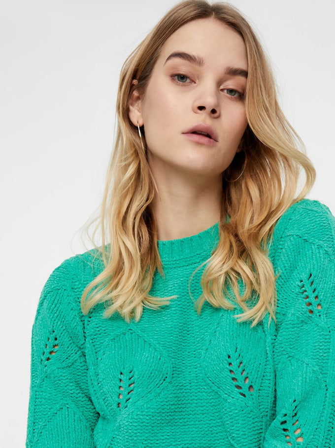 FEMININE SWEATER HOLLY GREEN
