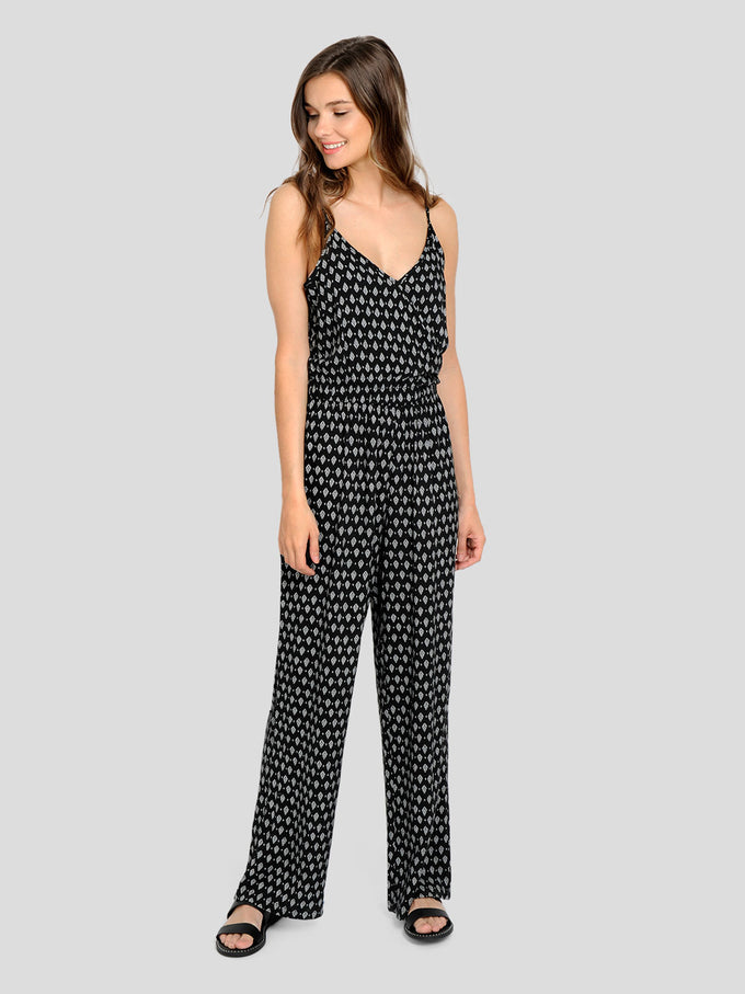 PRINTED JUMPSUIT BLACK PRINT