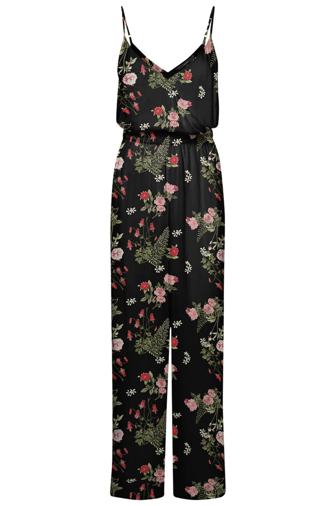 PRINTED JUMPSUIT BLACK