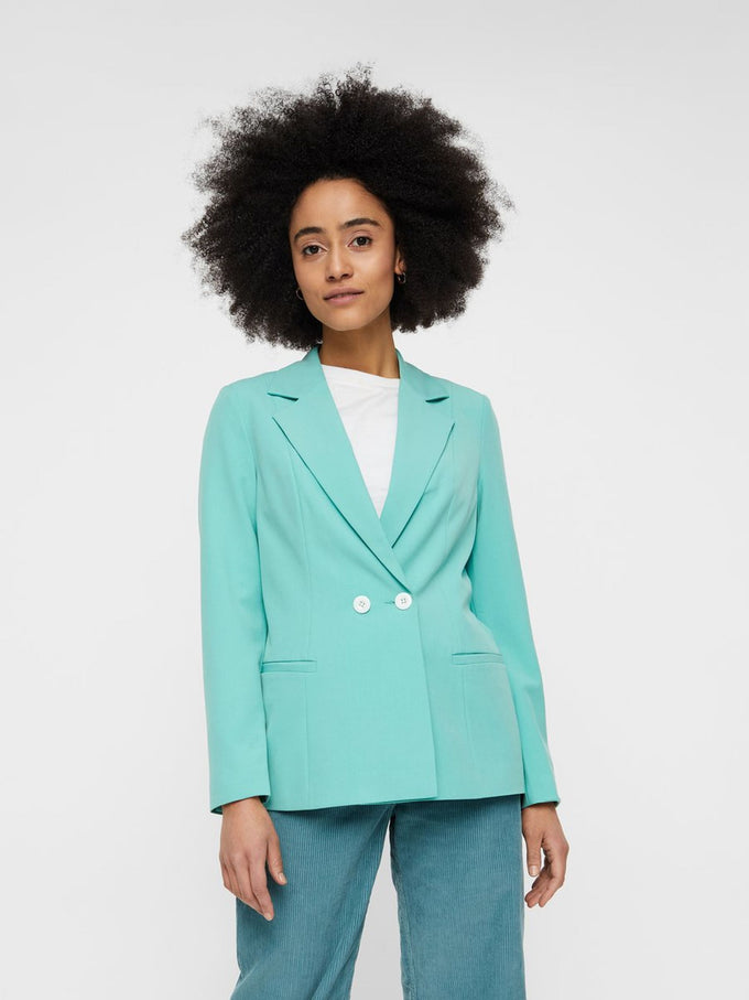 MINT DOUBLE-BREASTED BLAZER WASABI