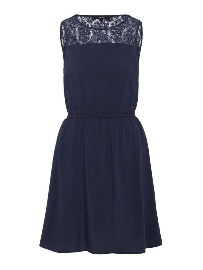 Boca sleveless dress with lace NAVY BLAZER