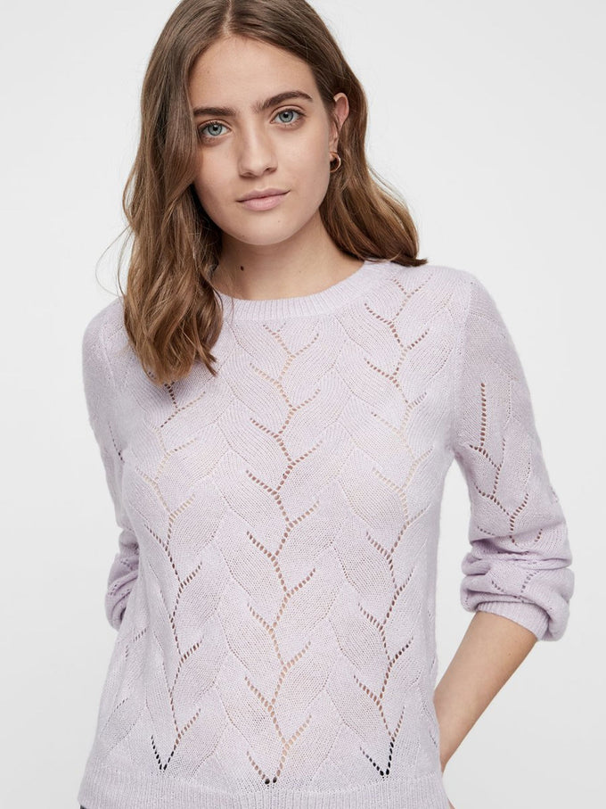 LILAC BALLOON SLEEVE SWEATER LAVENDULA