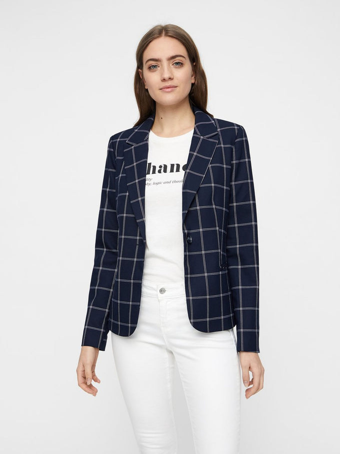 CHECKERED BLAZER NIGHT SKY